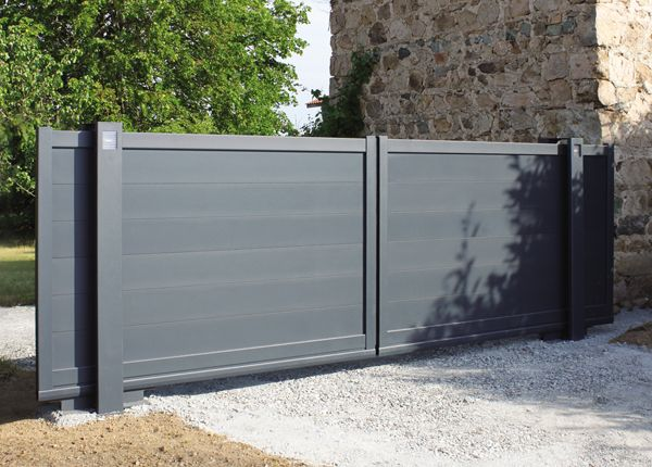 les 23 meilleures images du tableau portail coulissant 2 vantaux sur pinterest portail. Black Bedroom Furniture Sets. Home Design Ideas
