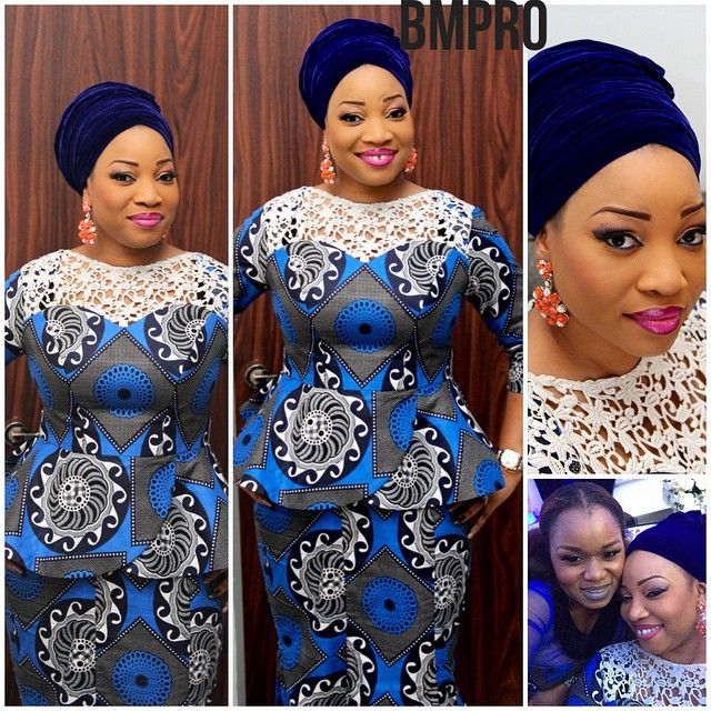 Kitchen Party Hair Styles: Ankara Mixed With Lace Dresses