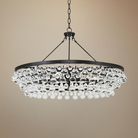 Robert abbey bling collection large deep bronze chandelier for Beautiful dining room chandeliers