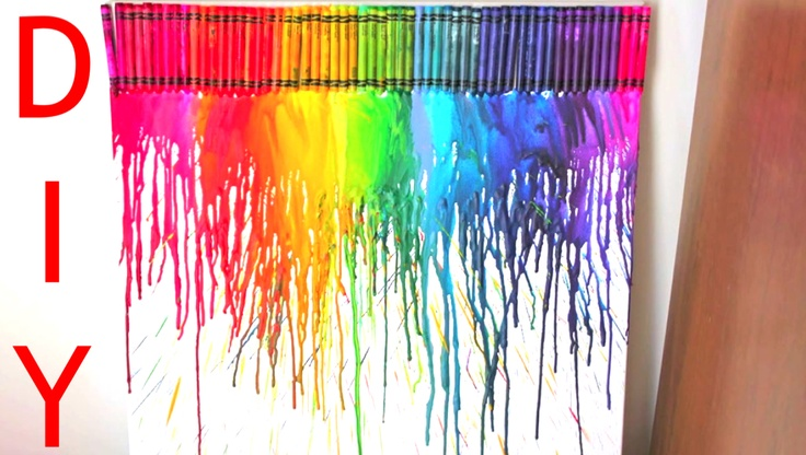DIY- Melted Crayons on Canvas!    http://www.youtube.com/watch?v=uGlO49ZFKwE