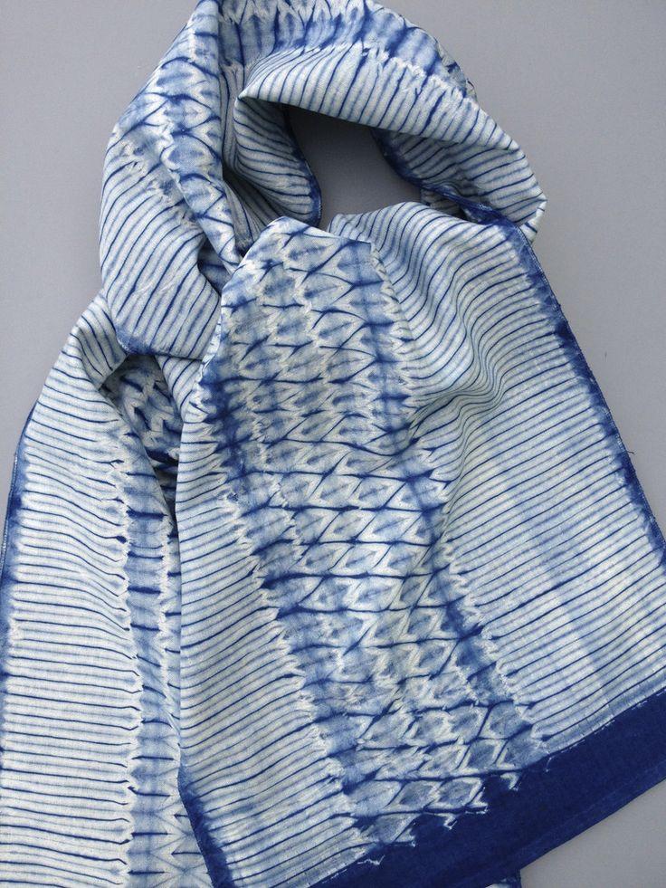 Woven Shibori Scarf Blank: Lia Stripe - For Dyeing - Slow Fiber Studios Shop
