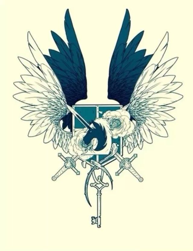 Attack on Titan/Shingeki no Kyojin // Coolest insignia in SNK. I can't say ever although it does come close but STILL. CAN SOMEONE PLEASE DRAW THIS FOR ME?
