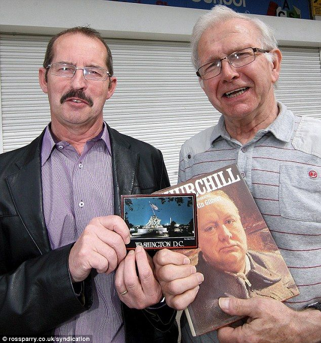 Man buys second-hand book and discovers 25-year-old postcard that his BROTHER sent to his MOTHER from the United States Grandfather Peter Dodds, 70, discovered card addressed to his late mother  It was hidden in a Winston Churchill biography he bought in a charity shop The card had originally been sent by his brother, Ian McCollum, 65, in 1988