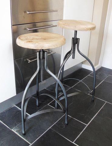 Industrial Adjustable Bar Stool | Unique | Kitchen Furniture | thedenandnow.co.uk | Warehouse Home Design Magazine