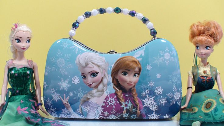 Exclusive Frozen Metal Purse Elsa Anna Surprise eggs Surprise bag Tattoo...