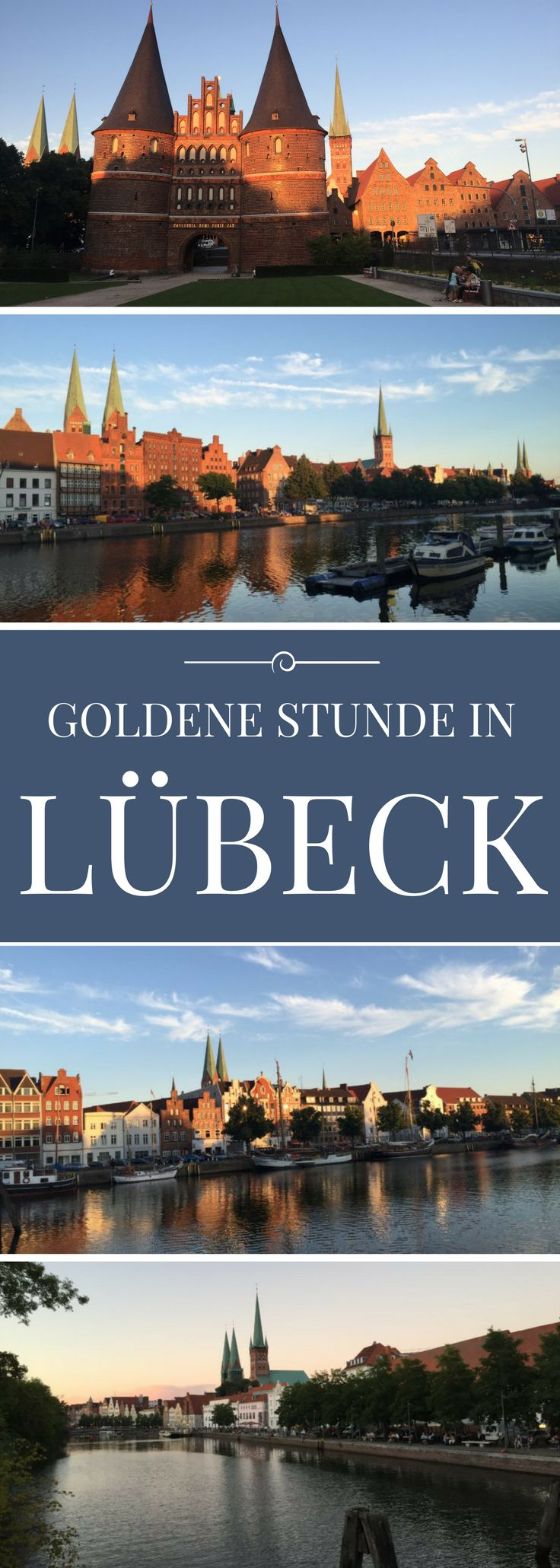 Lübeck bei Sonnenuntergang. Die Marzipanstadt in der Goldenen Stunde.