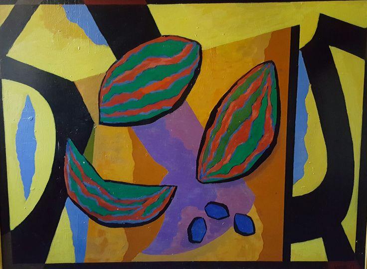 Erik Enroth (1917-1975)* Meloni, öljy, sign. -69, 85x116
