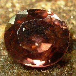 Batu Permata Orangy Brown Oval Zircon 2.22 carat www.rawa-bening.com
