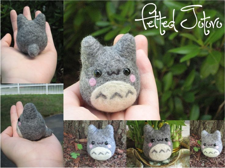 WARNING: felted Totoro causes cuteness overload.