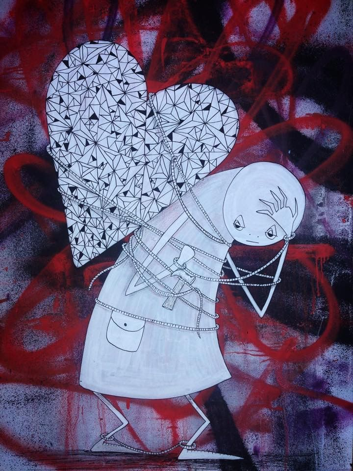 """Street Art. """"Heavy Load"""" by Barek, Brisbane, Australia (LP)"""