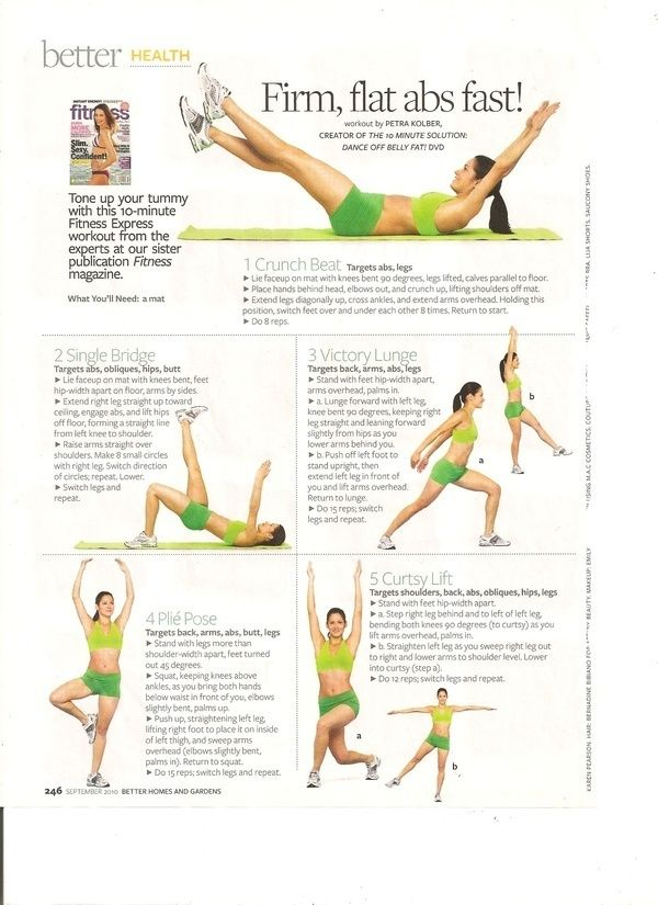 Firm, flat abs fast! my-workout-collection my-pins healthy-diet