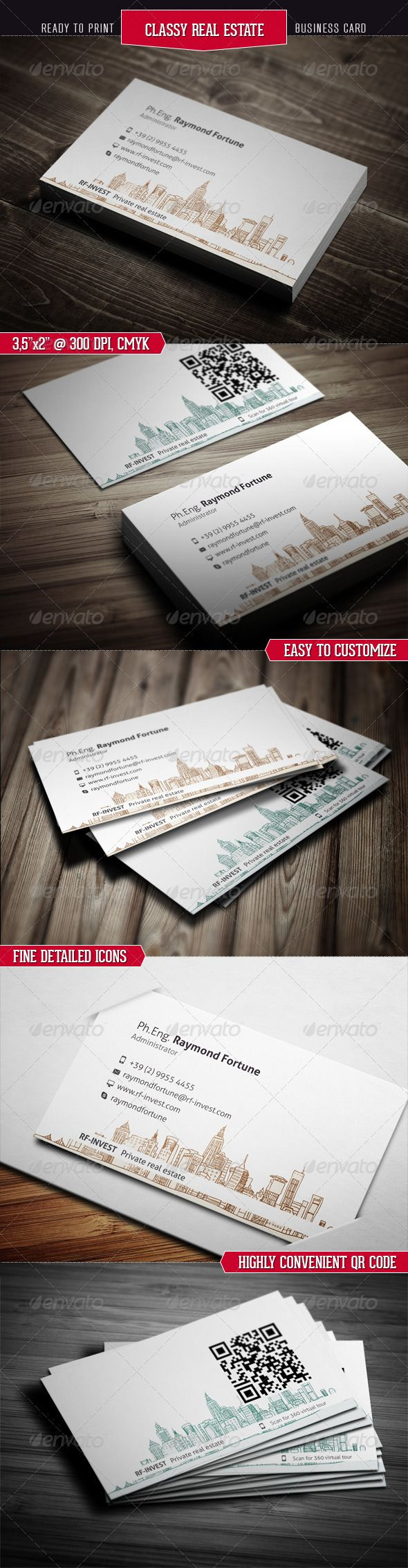18 best diy classy edgy business cards images on pinterest visit classy real estate business card reheart Choice Image