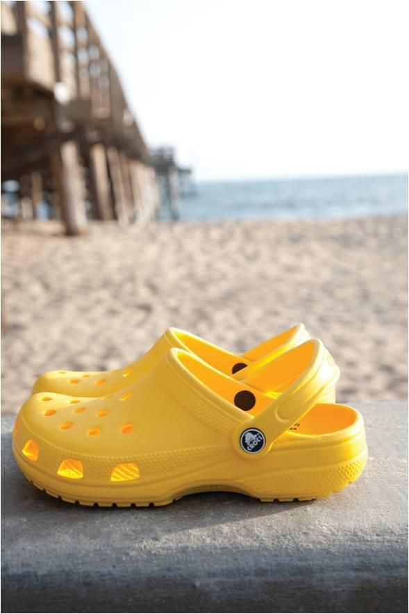 Yellow Crocs - Goes well with cropped jeans IMO haha