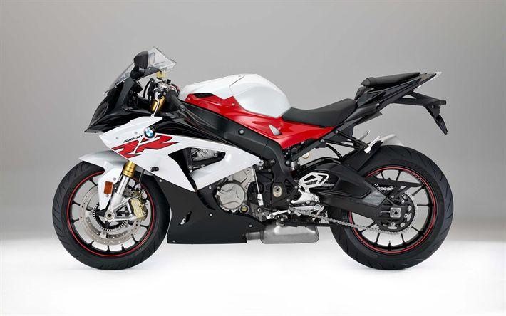 Lataa kuva 4k, BMW S1000RR, 2017, urheilu pyörä, sivukuva, uudet moottoripyörät, superbike, BMW