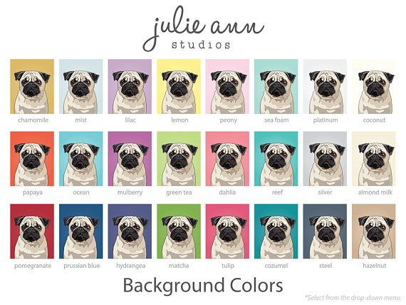From the original illustration to the museum-quality paper, each detail has been carefully designed to create a piece of art you'll want beautifying your home for years to come. This Pug Art Print is a museum-quality print made on thick, durable, matte paper. It is archival and acid-free. This original design was hand-illustrated with a pen and graphic tablet by artist Julie Ann Hausen. Prints are carefully hand-wrapped in tissue and shipped in a rigid tube mailer for maximum shipping…