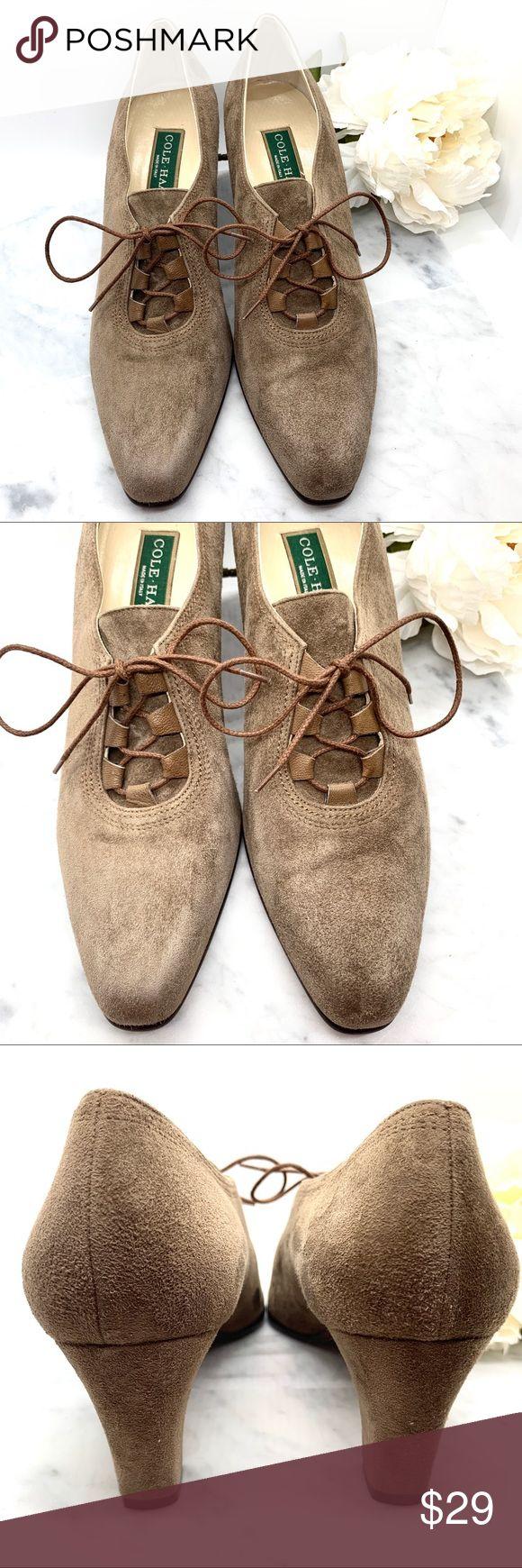 Cole Hann Mocha Brown Suede Block Heels Size 9.5 *Brand: Cole Hann *Description:…