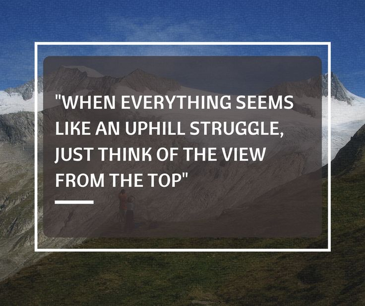 #Recovery can be an uphill battle... but be encouraged. The view from the top is worth it!
