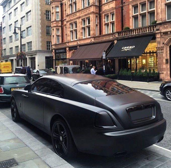 Matte triple black Rolls Royce Wraith