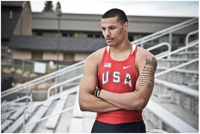 Sexy black men of usa track and field mechadude2001 for Track and field tattoos