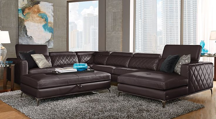 Picture Of Sofia Vergara Cassinella Stone 5 Pc Sectional Living New Sectional Living Room Sets Inspiration