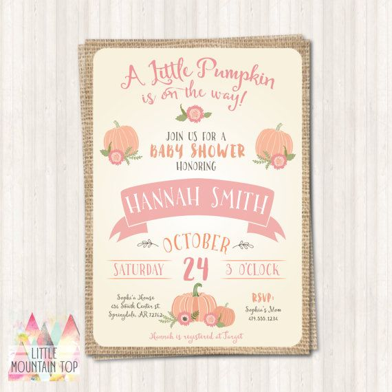 6b1b620936fab2f1d76803746856914a pumpkin baby showers fall baby showers 25 best print invitations ideas on pinterest,How To Print Out Invitations