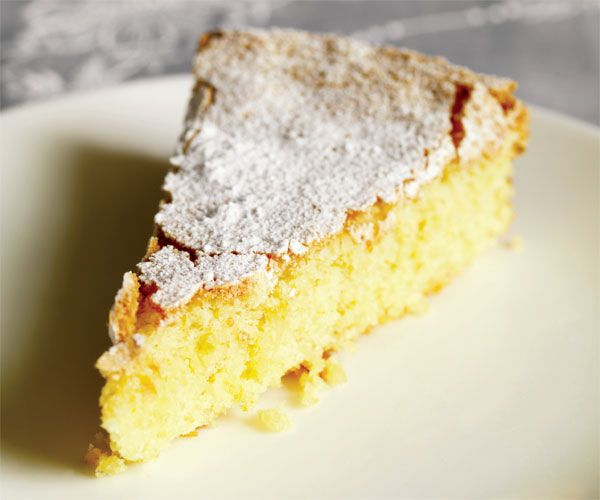 Almond Cake- GF and fantastic. I topped it with an orange flower syrup.