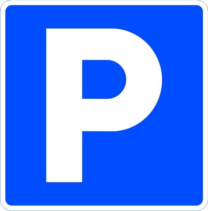 Es una imagen arbitraria que se asocia a la idea de un recinto dedicado al estacionamiento. La P en color blanco sobre un fondo azul, se asocia al espacio para automóviles dedicado al aparcamiento.