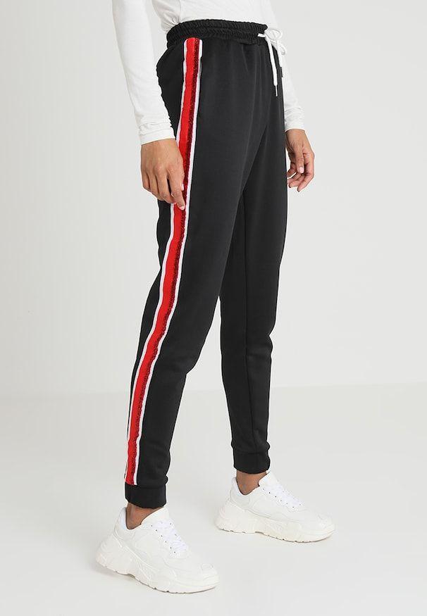 5259cfb9 SHINY TAPE SIDE STRIPE CUTT - Treningsbukser - black   jojo siwa elsker i  2019   Shorts, Pants og Black