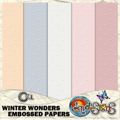 JQD Winter Wonders Embossed Papers