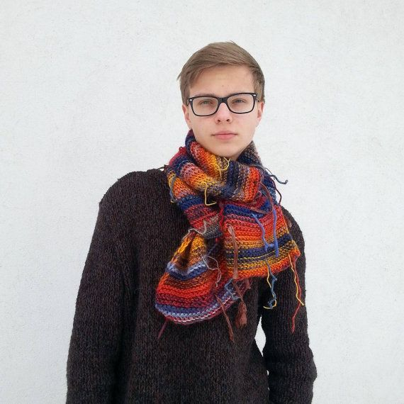 Hand knit Fur Fringed Shawl  OOAK Shawl   by Isabellwoolstudio, #OOAKShawl, #Mensshawl, #colorfulshawl