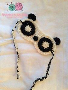 Panda Sleep Masks - Free Pattern Friday - Bobbles and Baubles, thanks so xox
