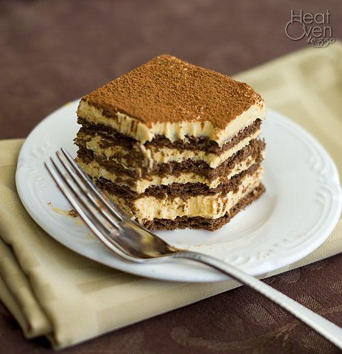 Heat Oven to 350: No Bake Pumpkin Chocolate Layered Cake: Chocolate ...