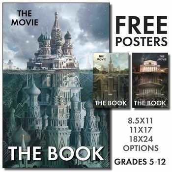 Celebrate books with these three eye-catching posters, perfect for any English/Language Arts classroom. The high-resolution PDFs come in three different options: 8.5x11 inches, 11x17 inches, and 18x24 inches. Make your own on a color printer or take to a local print shop for