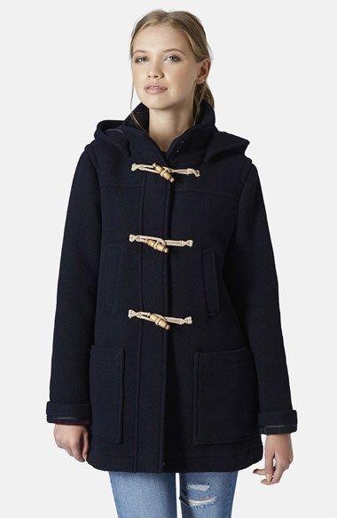 Loving this navy hooded duffle coat. | @nordstrom #nordstrom