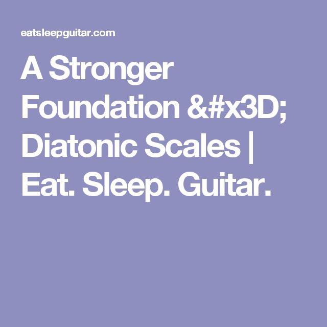 A Stronger Foundation = Diatonic Scales | Eat. Sleep. Guitar.