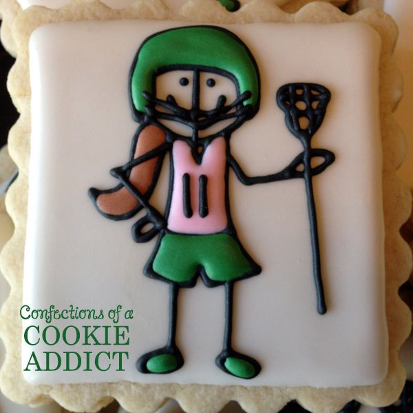 Girl Lacrosse Player Cookie