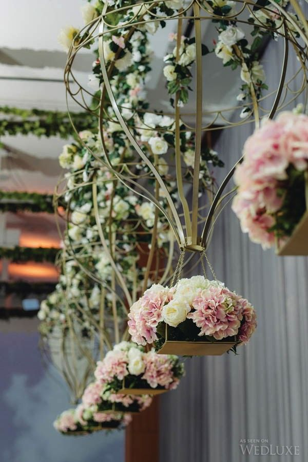 A #wedding infused with a modern whimsical #floral design   Photography by: Mango Studios   WedLuxe Magazine