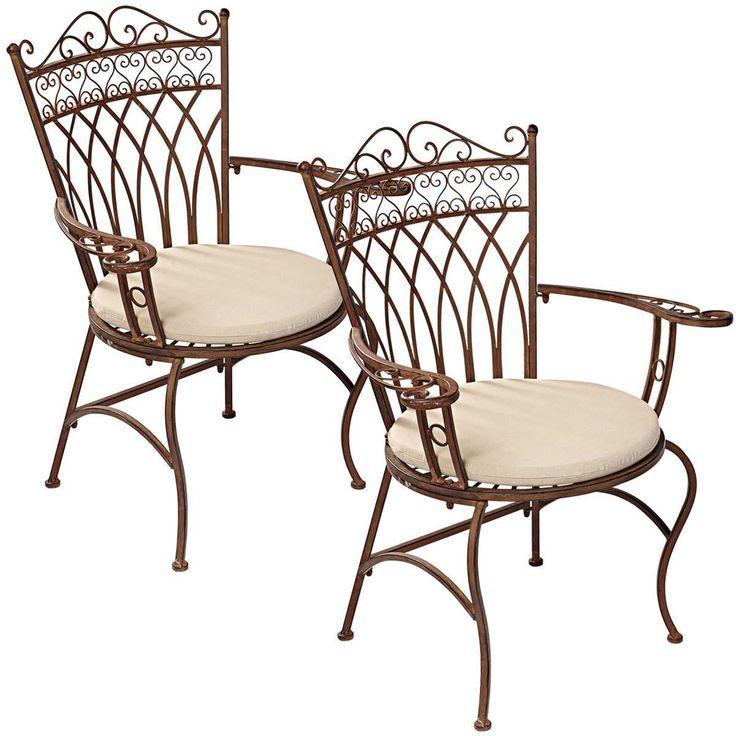 Gartenstuhl-Set, 2-tlg. Versailles, nostalgisch, Eisen Jetzt bestellen unter: http://www.woonio.de/produkt/gartenstuhl-set-2-tlg-versailles-nostalgisch-eisen/