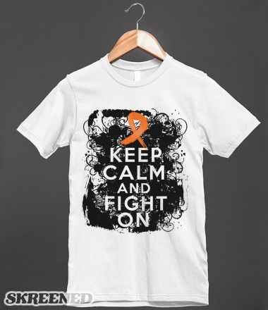 Skin Cancer Keep Calm and Fight On T-Shirts #skincancer #skincancerawareness #skincancershirts
