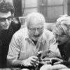 Still of Jeff Goldblum, Richard Attenborough, Laura Dern and Sam Neill in Jurassic Park