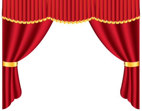 Transparent Red Curtain PNG Clipart