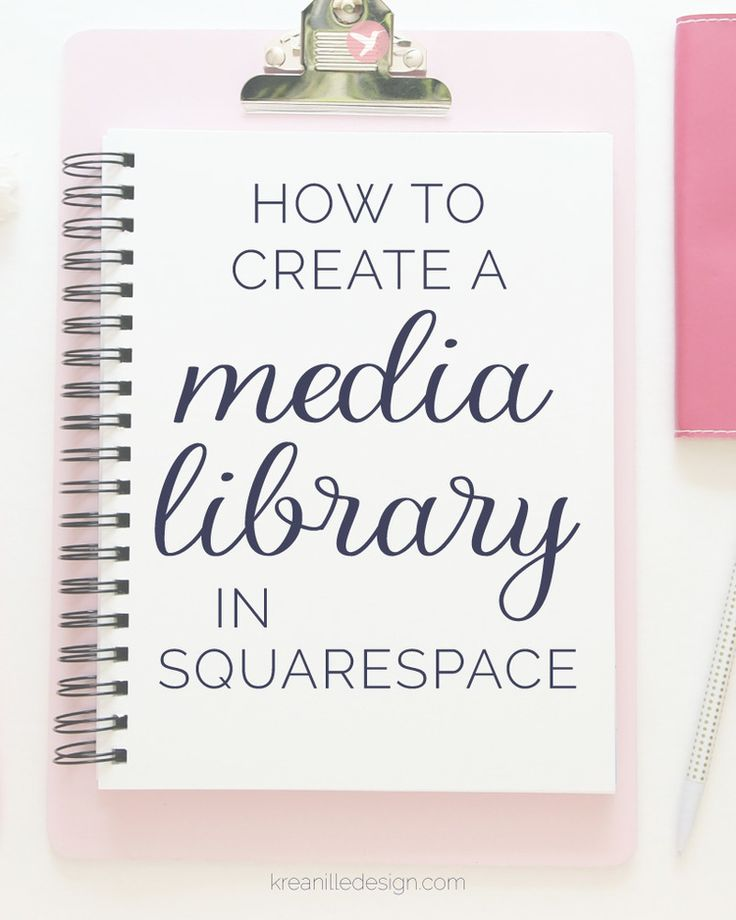 How to create a media library for images & files in Squarespace