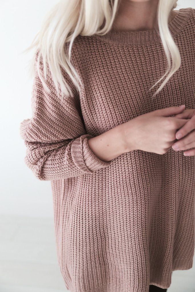 Mauve Knit Sweater - Luca + Grae