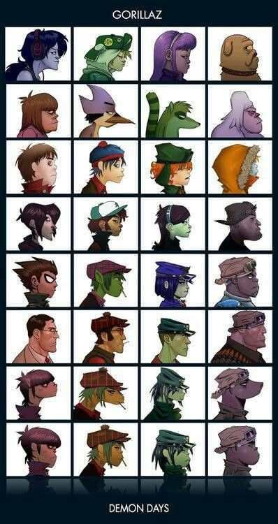 Gorillaz -I think the Teen Titans one is cool. Lol Cyborg and Russel could b like brothers lol