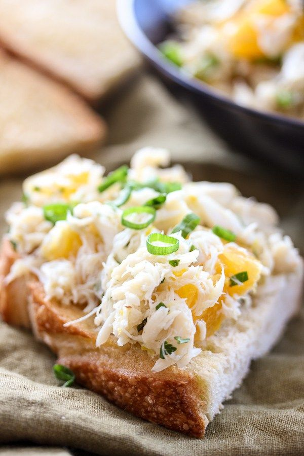 Citrus Crab Salad on Sourdough is a light, refreshing salad that's ...