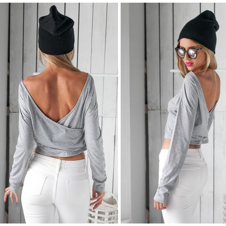 This blouse is special at its backless design,it is a back cross style,which can show you sexy back,at the same time add some lovely elements to you,brief Slim style can also show your good figure,you