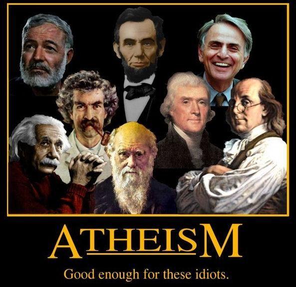 Ernest Hemingway, Albert Einstein, Mark Twain, Abraham Lincoln, Charles Darwin, Thomas Jefferson, Carl Sagan, and Ben Franklin.