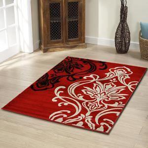 Stunning+Thick+Designer+Rug+Red+230x160cm