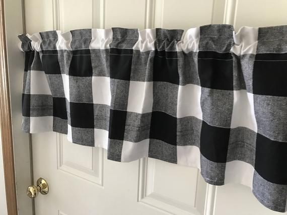 5 99 Black And White Buffalo Check Curtain Valance Buffalo Check Curtains Check Curtains Buffalo Plaid Curtains