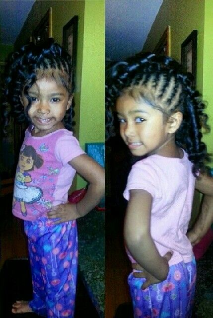 Cornrows And Curls Side Mohawk Hairstyle Natural